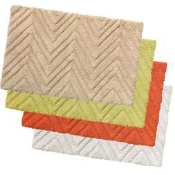"100% Cotton Bath Bathroom Rug Mat Chevron Pattern 21""x34"""