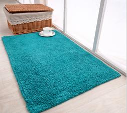 100 % Cotton Bath Mat Rug Set Bathroom Shower Reversible Mat