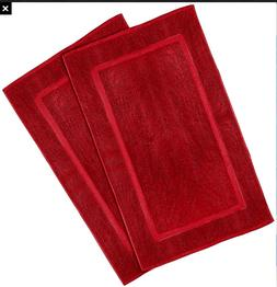 SPRINGFIELD LINEN 100%Cotton Bath Mats 2 Pack, Bathroom Rug,