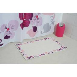 Evideco  100% Cotton Bath Rug Bath mat Printed Border   20""