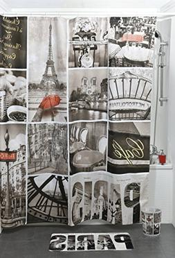 1200417 printed shower curtain cafe