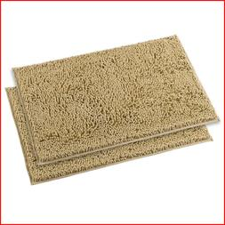 MAYSHINE 16x24 inches Non-Slip Bathroom Rug 2 pack - inches,
