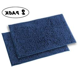 2 Mayshine Bath Mats Bathroom Rugs Non slip Washable Soft Mi