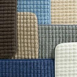 2 Piece Memory Foam Bath Mat Set Non Skid Back Woven Jacquar