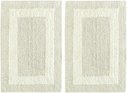 Cotton Craft 2 Piece Reversible Step Out Bath Mat Rug Set 17