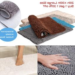 20×30 Large Thickened Bath Mat Bathroom Shower Toilet Rug L