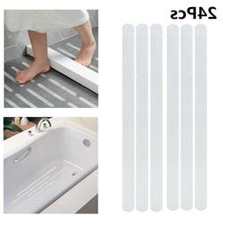 24 Safety T-Strips Clear Non-Slip Applique Mat Stickers Bath