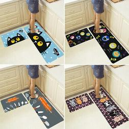2Pcs Kitchen Floor Carpets Non-Slip Door Home Entrance Bathr