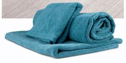 NORWEX 3 PC Set of teal bath mat, body cloth & teal bath tow