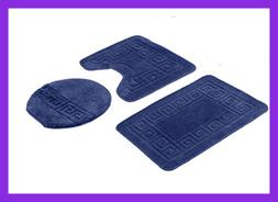 3 PC Solid Color Patchwork NAVY 18X29 18X18 18X19 Home Bed &