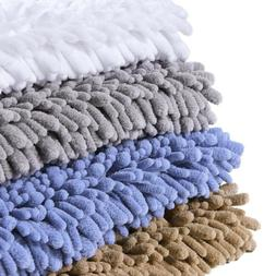 "32""x20"" Bath Mat Soft Chenille Bathroom Rugs Non-Slip Bathro"