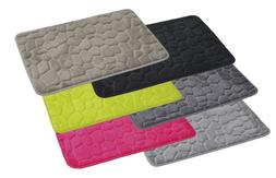 Evideco 3D Cobble Stone Shaped Memory Foam Bath Mat Microfib