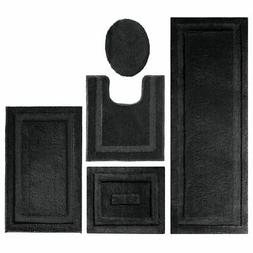 mDesign 5 Piece Soft Microfiber Polyester Bathroom Spa Rug S