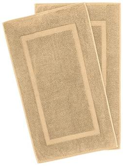900 GSM Machine Washable 21x34 Inches 2-Pack Banded Bath Mat