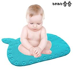 BBCare Whale Shaped Baby Non-Slip Bathtub Mat with Strong Su