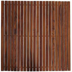 Bare Decor Fuji String Spa Shower Mat in Solid Teak Wood Oil