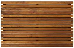 Bare Decor Zen Spa Shower or Door Mat in Solid Teak Wood and