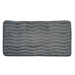 Bedford Home Memory Foam 24 by 60-Inch Bath Mat, Platinum, X