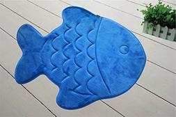 Incredibly Soft and Absorbent Kid's Memory Foam Bath Mat, 22