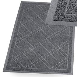 SlipToGrip -  Universal Plaid Door Mat with DuraLoop - XL 42