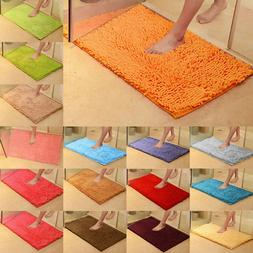Absorbent Bath Mat Shaggy Microfiber Soft Bathroom Shower Ru
