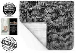Gorilla Grip Luxury Chenille Bathroom Rug Mat Absorbent Shag