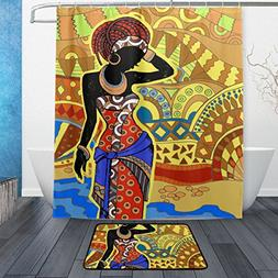 ALAZA Set of 2 African Women 60 X 72 Inches Shower Curtain a