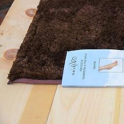 Alpine Chocolate Brown Bathroom Mat : Absorbent and Ultra Pl