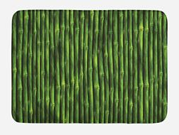 Ambesonne Bamboo Bath Mat by, Bamboo Stems Pattern Tropical