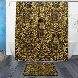 Franzibla Baroque Flower Pattern Alphabet Letter G Shower Cu