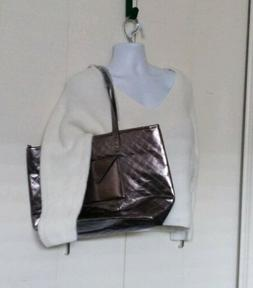 BATH AND BODY WORKS Metallic Gray Tote Bag Only NO PRODUCT N