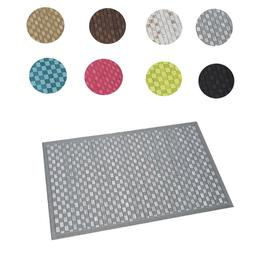 EVIDECO Bath Bamboo Mat Checkerboard Rugs Mats solid colors