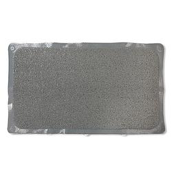Bath Carpet Ultra Shower Mat with Anti-Slip Backing in Grey