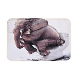 Uarter Bath Mat, Elephant Rug , Bath Rugs, Anti-bacterial No