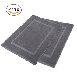 Alurri Luxury Bath Mat – 2 Pack Bundle - 100% Ringspun Cot
