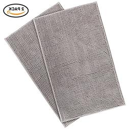 "Lifewit 2 Pack 32""x20"" Bath Mat Anti Slip Microfiber Shaggy"