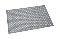 EVIDECO Bath Mat Bamboo Checkerboard Washed Grey