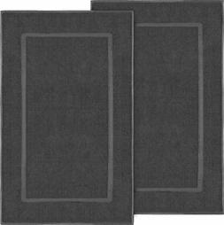 "2 Pack Cotton Banded 985 GSM Bath Mat Washable 21x34""  Showe"