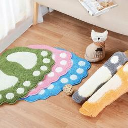 Bath Mat Cotton Washable Contour Rug Soft Bathroom Floor Rug