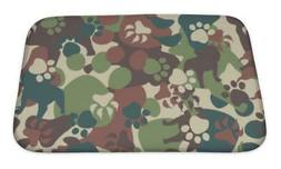 Bath Mat, Dog Camouflage Pattern
