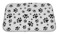 Bath Mat, Dog Paws Pattern