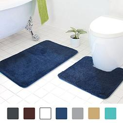 MAYSHINE Bath Mat Pedestal Set and 2 Piece Toilet Bathroom R