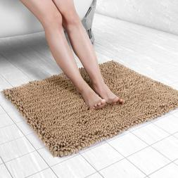 Bath Mat Soft Chenille Bathroom Rugs Water Absorbent Floor D