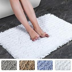 NORCHO Bath Mat Soft Chenille Rug Water Absorbent with Non-S