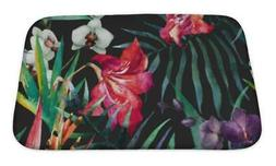 Bath Mat, Tropical Pattern