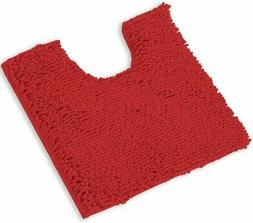 LuxUrux Bath Mat, U-Shaped Contoured Rug for Around Toilet,