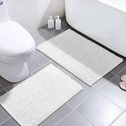 MAYSHINE Bath Mats for Bathroom Rugs Non Slip 2 Pack - 20x32