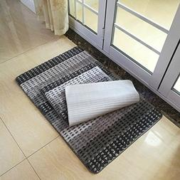Hihome Bath Mats Set of 2pcs, Front Doormat, Shower Rugs for