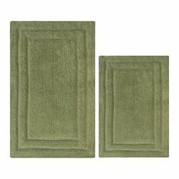 Bath Rug Set 2-Pc Reversible Bathroom Mat Shower Carpet Cott
