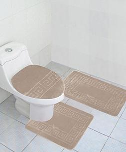 3 Piece Bath Rug Set Pattern Bathroom Rug /large Contour Mat